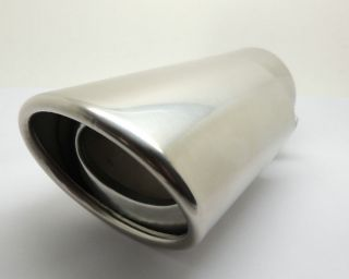 Vehicle Exhaust Muffler Tip Stainless Steel Pipe Chrome Trim Straight