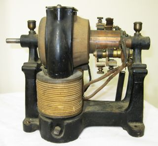 1880s CROCKER WHEELER Vintage Bi Polar Motor Attic Fresh A Cond Fan