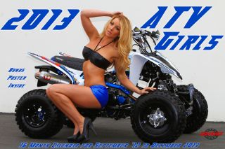 2013 ATV GIRLSCALENDAR one industries factory effex trx yfz ltr kfx