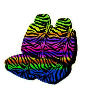 Animal Tiger Print Low Back Front Bucket Car Seat Covers Set