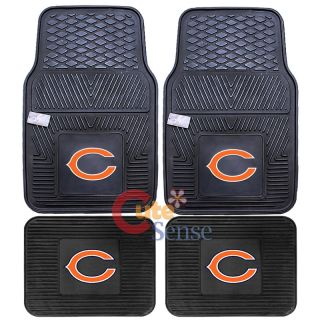 Car Floor Mat 4pc Rubber Utility FANMATS Mat NFL Auto Accessories