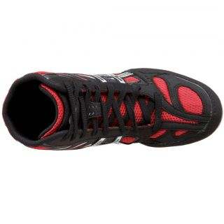 Asics Mens Split Second 8 Wrestling Shoe Black Red Silver