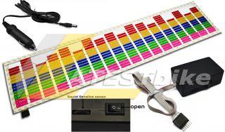 car sound music activated stickers equalizer glow 12v led light sound