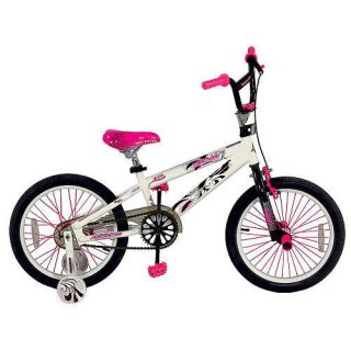 Avigo 18 inch BMX Girls Pink Bike w Training Wheels