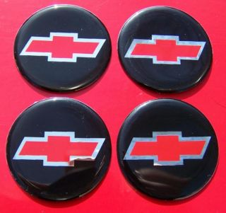 Red Chevy Chevrolet Car Truck Van Wheels Rims Hubcap Emblems Decals