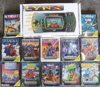 Used Atari Lynx II Console System 12 New Games SEALED