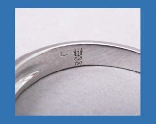 James Avery Debra Ring Band Diamond 18K White Gold Retail $1100
