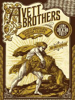 AVETT BROTHERS RED ROCKS 2012 CONCERT POSTER SILKSCREEN ORIGINAL