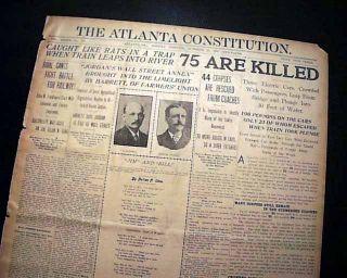 Atlantic City Train Wreck Railroad Disaster New Jersey NJ 1906 Old