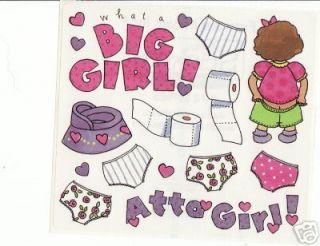 Atta Girl Potty Training FM Stickers Scrapbooking