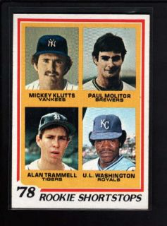 1978 TOPPS #707 PAUL MOLITOR AND ALAN TRAMMELL ROOKIE NM B9156