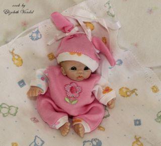 ooak original hand polymer sculpt clay baby art doll Elizabeth Vandal