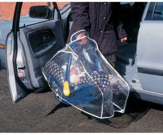clippasafe infant car seat rain cover baby travel bn