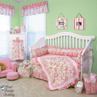 Baby Girl Kid Toddler for Crib Nursery Blanket Newborn Bedding Set