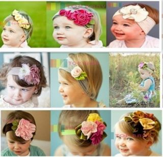 Stunning Unusual Baby Girl Boy Cotton Hair Band Headband Flower