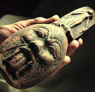 BES EGYPTIAN PROTECTION DEMON Votive Figurine Stone Statue ancient
