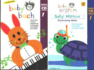 Baby Bach VHS 2000 Baby Einstein Baby Neptune Discovering Water VHS