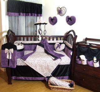 Secret Garden 15pcs Baby Crib Toddler Bedding Set
