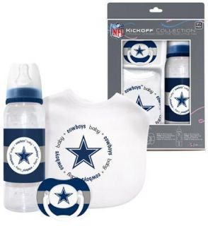 Dallas Cowboys Infant Baby Fanatic Gift Set Bottle Bib Pacifier BPA