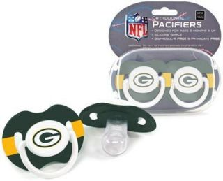 Packers Pacifiers 2 Pack Set Infant Baby Fanatic BPA Free NFL