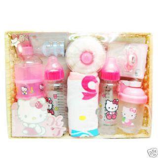 New Hello Kitty Baby Feeding Bottle Gift Set