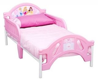Princess Toddler Bed Frame Girls Pink Childs Size w/ Safety Rails Crib