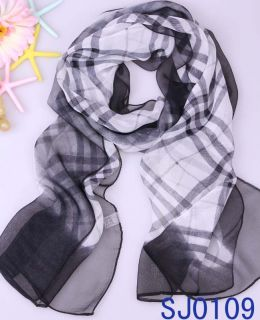 High Quality Womens Plaid Swell Long Soft Scarf Wrap Shawl Stole