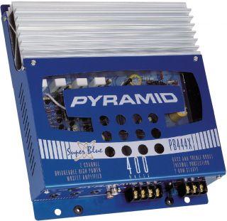 New Pyle PB444X 400W 2 CH Car Audio Amplifier Amp 400 Watt 2 Channel