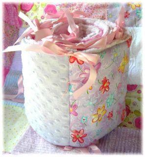 Vintage Flower Garden Chenille Baby Quilt Bedding Set
