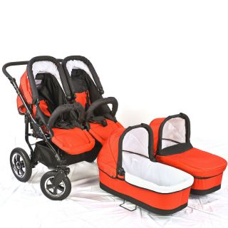 opean Buggy Double Baby Stroller 2 bassinets 2 toddler seats Brand