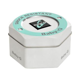 Casio Womens BGA152 7B2 Baby G Shock White and Pink Dial Analog Watch