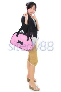 and secure way to transport pet with this pet carrier features black