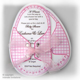 this is for 12 girl baby shower invitation baby booties with pink