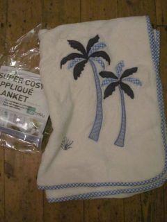 Snuggle Sac YU BABY Animal Magic Super Cosy Applique Blanket Blue