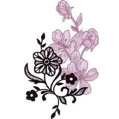 Brother Babylock Embroidery Machine Card Lace Blooms