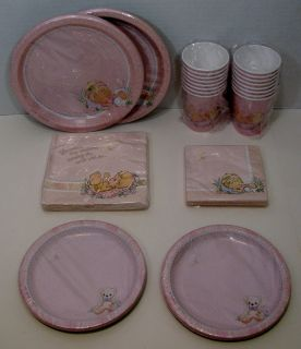 Precious Moments Girl Baby Shower 16 Dinner Dessert Plates Lunch Bev