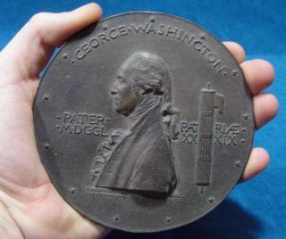1889 Antique Augustus Saint Gaudens George Washington Inaugural Bronze