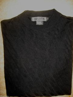 Mens Black Diamond Axist Silk Knit Long Sleeve Shirt Large
