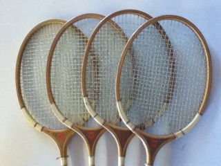 REGENT CARLTON BADMINTON WOODEN RACKET SET & BIRDIES MADE IN ENGLAND