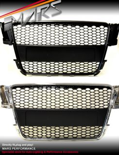 Audi A5 8T RS5 RS Honey com Style Matt Black Front Grille Grill 08 09