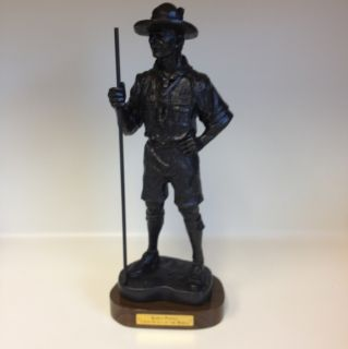 Baden Powell Statue 14 inch Eagle Boy Scout Wood Badge