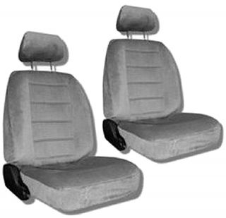 Grey Car Auto Truck Seat Covers w/ Head rest Covers #5