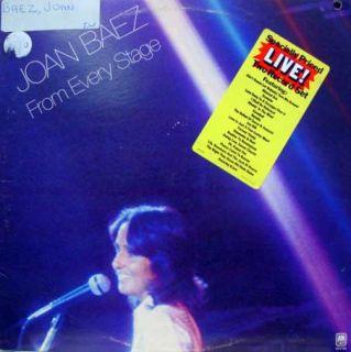 Joan Baez from Every Stage 2 LP Mint WL Promo WLP SP 3704 Vinyl 1976