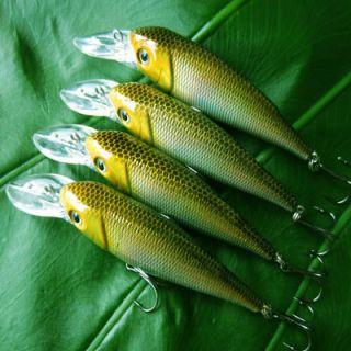 4Pcs RAP Medium Running Crankbait Fishing Lures Bait Tackle 90HS