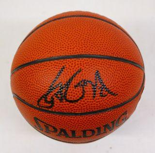 Yao Ming Signed Spalding Autograph Mini Basketball JSA
