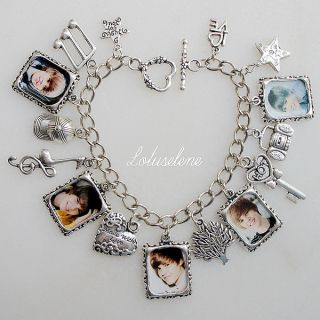 ♥baby♥picture Photo Image Charm Bracelet Birthday Gift