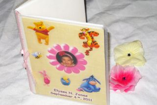 Baby Girl Winnie The Pooh Custom Personalized Photo Album Handmade