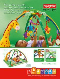 Fisher Price Rainforest Gym Baby Play Mat With Light & Sounds NEW