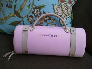 Veuve Clicquot Traveller Bag in PINK Carrier designed by Louis Vuitton