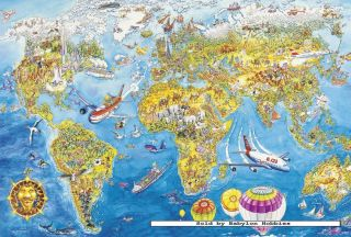 Where in the world is carmen sandiego jr detective jigsaw puzzle picture of schmidt 200 pieces jigsaw puzzle world map 55440 gumiabroncs Choice Image